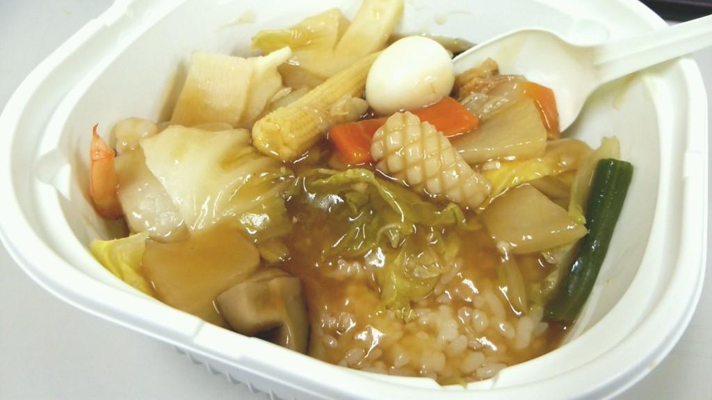 12品目の特製中華丼(セブンイレブン)